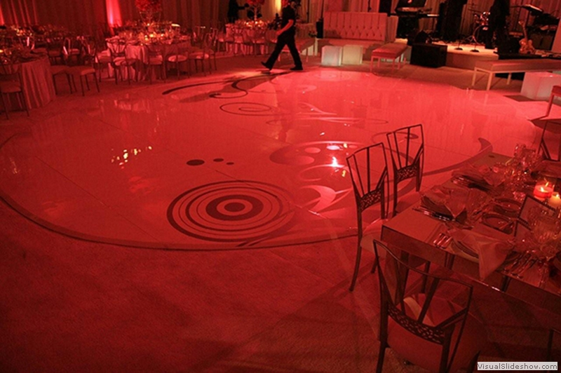 23x28 Ft Oval High Gloss Dance Floor Rental