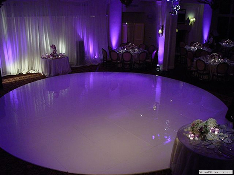 24 Ft High Gloss White Round Dance Floor Rental