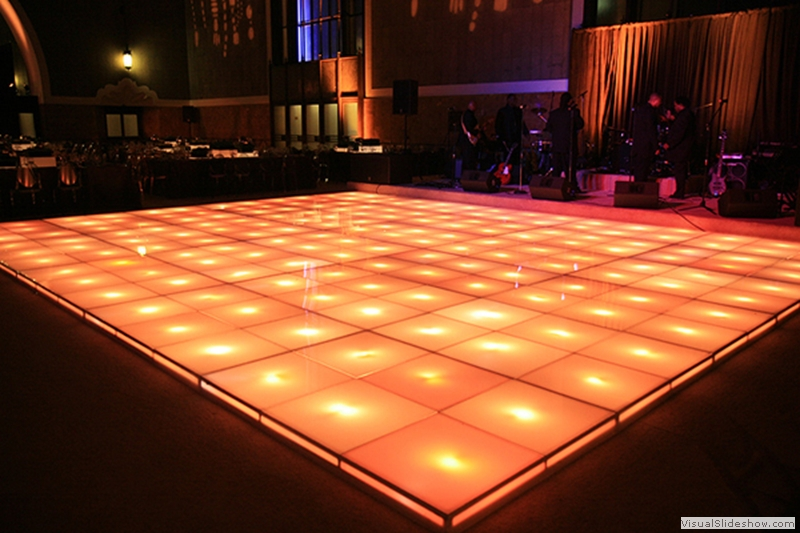 Amber Lit Dance Floor Rental