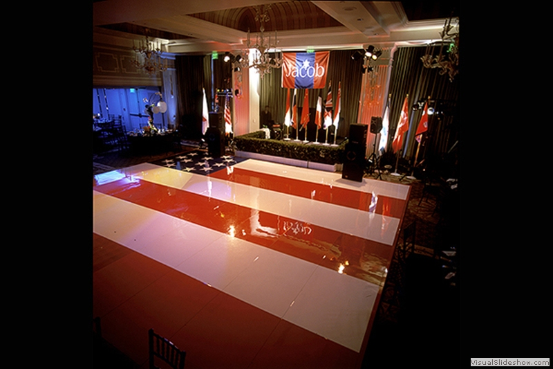 American Flag Dance Floor Rental
