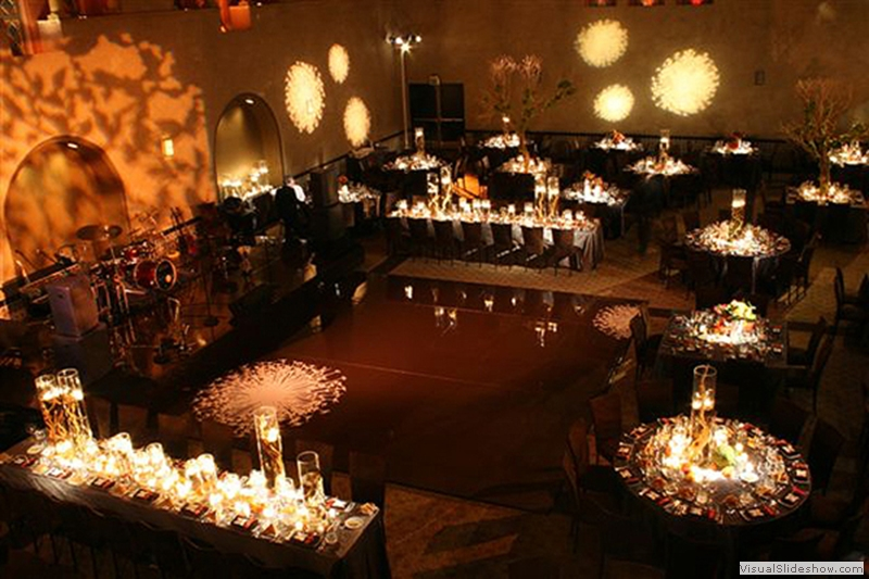 Dark Chocolate Dance Floor with Stencils Dance Floor Rental