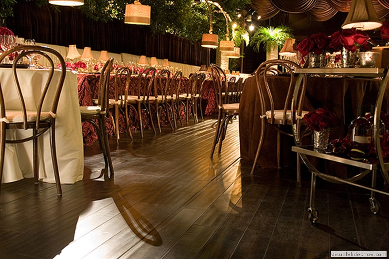 Distressed Wood Dance Floor Rental