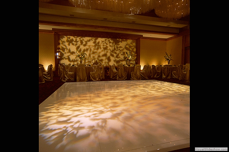 High Gloss White Dance Floor Rental with Lighting