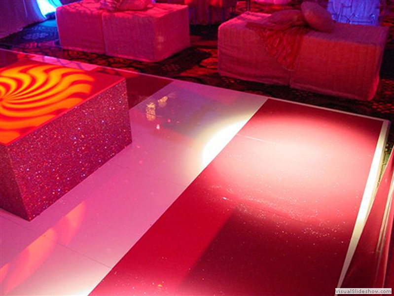 Hot Pink and White Dance Floor Rental