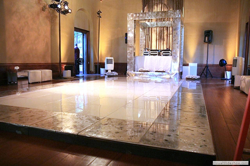 Mercury Glass Look Dance Floor Rental