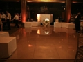 Champagne Gold Dance Floor Rental